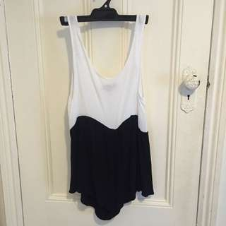 Black And While Playsuit