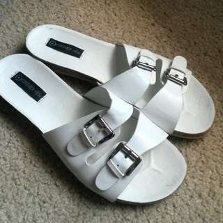 Forever New White Sandals Size 41