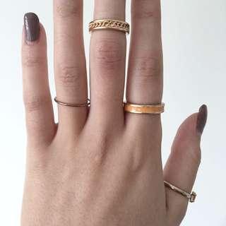 Peach Chain Midi Ring