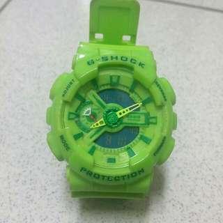 塑膠手錶 螢光綠