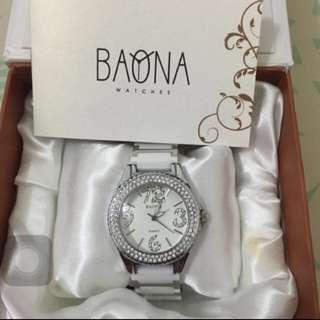 BAONA全新水鑽陶瓷女錶