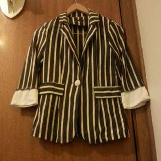 Preppy Striped Blazer