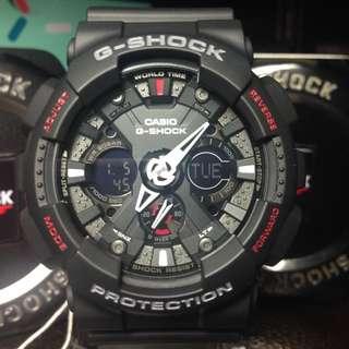 G-Shock GA-120 黑紅蜘蛛