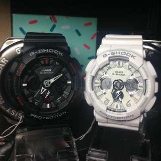 G-Shock GA-120 黑紅/雪白蜘蛛對錶