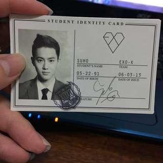EXO XOXO 韓版 Suho 金俊勉 小卡