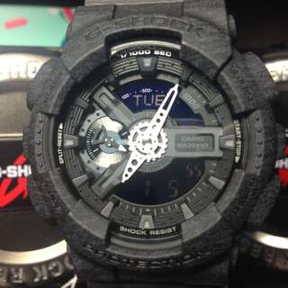 G-Shock GA-110 黑針織紋