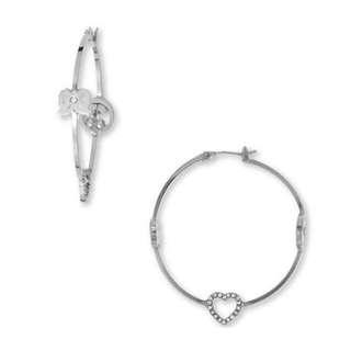 Juicy Couture 'New Icons' Medium Hoop Earrings