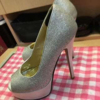 👍👠正韓👠銀粉高跟鞋👠