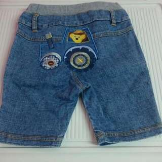 Why And 1/2 80cm 五分牛仔短褲