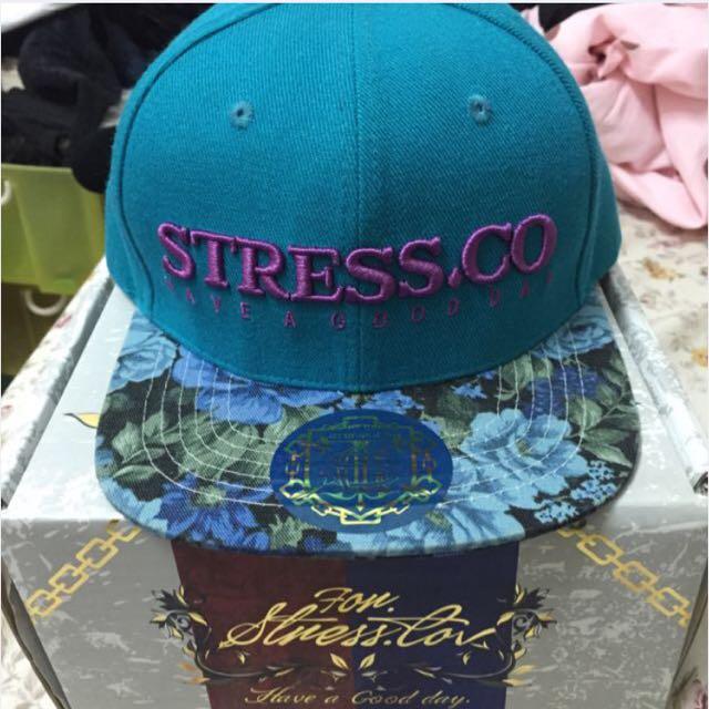 💯600含運 9成新Stress.co藍綠色 湖水綠 SnapBack 後扣帽
