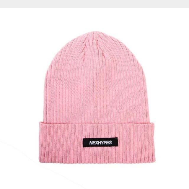 💯600含運 全新僅試戴NEXHYPE粉紅毛帽