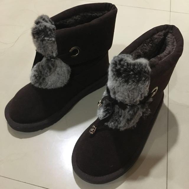 二手咖啡色短靴