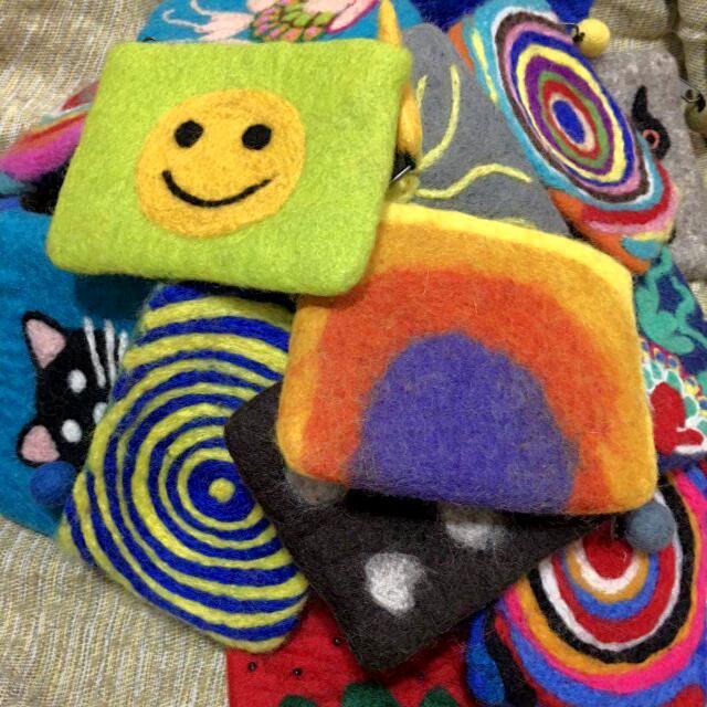 手工製尼泊爾羊毛氈零錢包