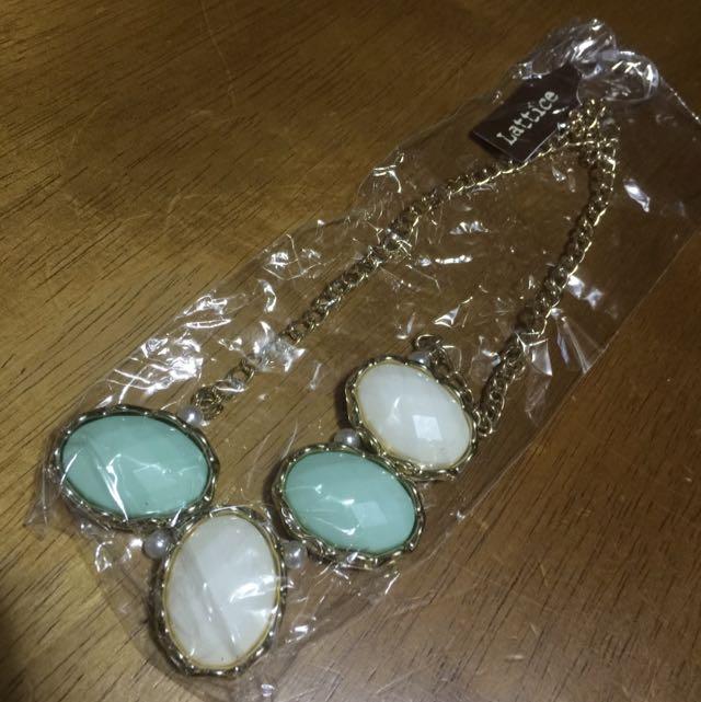 白綠寶石項鍊