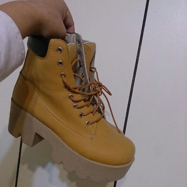 復古厚底馬丁靴 增高