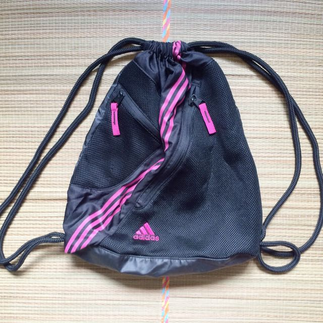 34694d8461 Adidas Black   Pink Drawstring Bag