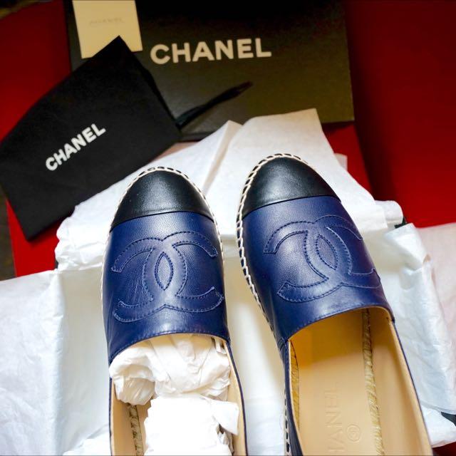 BNIB Chanel espadrilles - Navy \u0026 Black