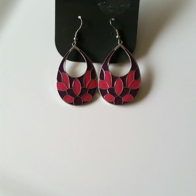 Flower Print Earings