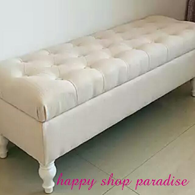 French Style Ottoman Sofa Bench W