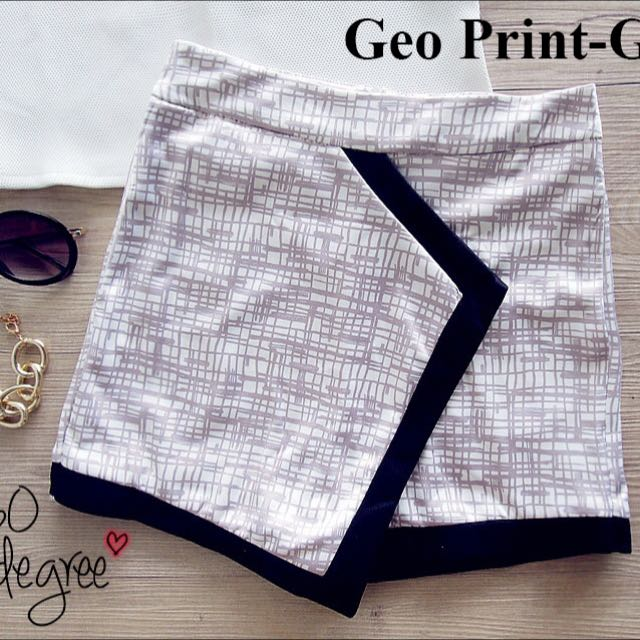 Geo Printed Skort