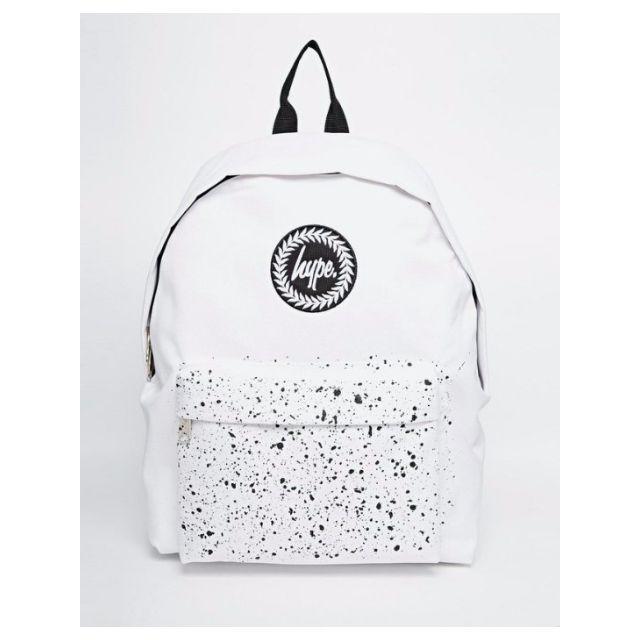 【現貨】Hype Speckle Pocket Backpack 白色 潑漆 休閒 後背包