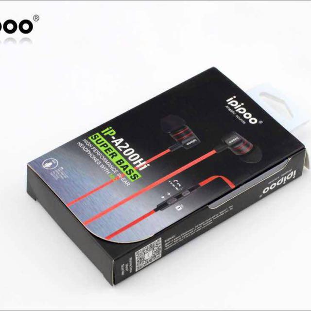 ipipoo/品韵  A200Hi 重低音耳機 通用性耳機 入耳式耳機
