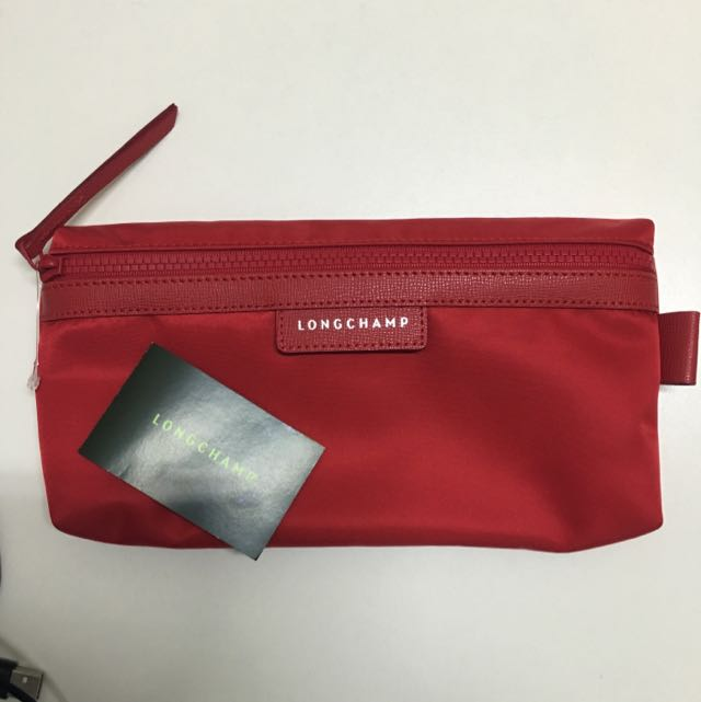 三色正品Longchamp Le Pliage Neo系列 手拿包收納包萬用包化妝包