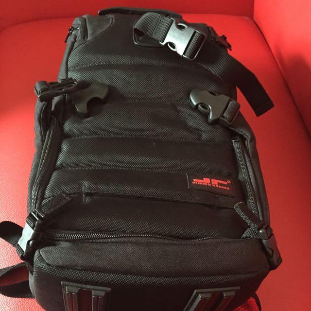 Mr.jr能量戰士 4way單反攝影相機背包-黑小款2機4鏡