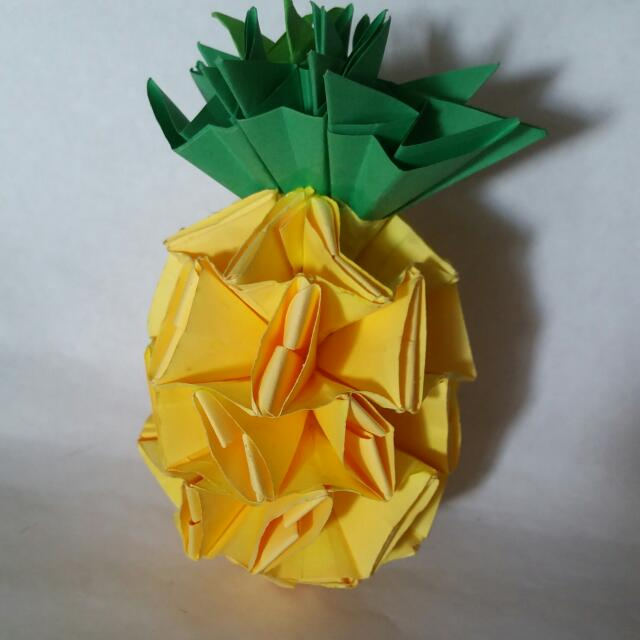 Origami Pineapple Design Craft On Carousell
