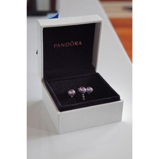 Pandora Amethyst Earrings Only