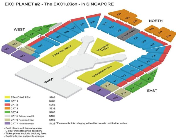 WTS Exo'luxion Day 2 Cat 1 Blk 216, Entertainment, K-Wave on