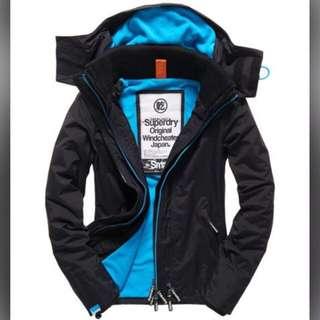 (換)superdry極度乾燥 女生防風連帽夾克