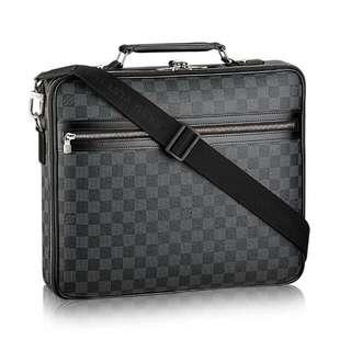 Original Genuine Louis Vuitton Steeve Damier Graphite Men Business Document Bag