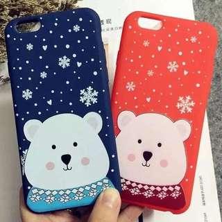 Iphone✨ 可愛白熊全包手機殼