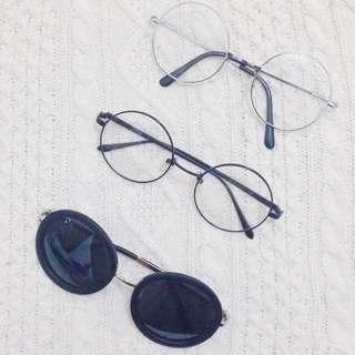 細框圓眼鏡/墨鏡