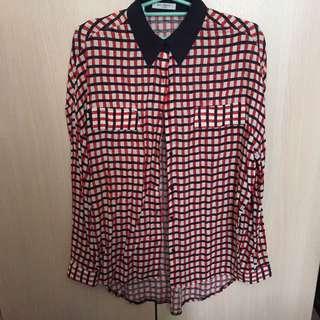 韓國設計師款 格紋襯衫