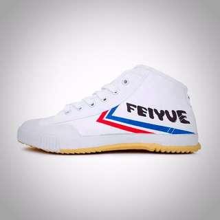 Feiyue 飛躍 Feiyue Logo  中筒帆布鞋 白色 法國韓國潮人必備單品
