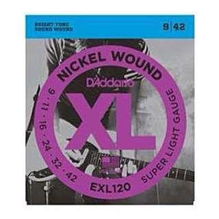 【超低價】(全新包裝)D'Addario EXL120 電吉他弦