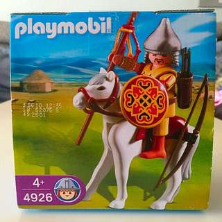BNIB: Playmobil 4926 Mongolian Asian Knight With Horse In Egg