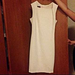 Further Markdown! Mango Basic White Pencil Dress