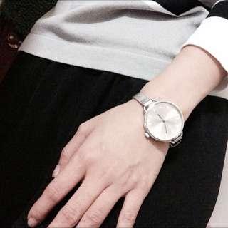 韓版 氣質圓型細帶金屬錶