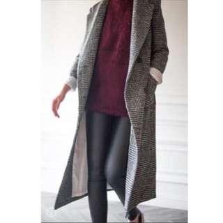 經典格紋大衣