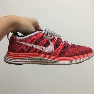 【保留】Wmns Nike Flyknit  Lunar One+ 紅色一代