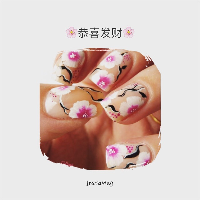 2016 Chinese New Year Nail Art Design Design Craft On Carousell