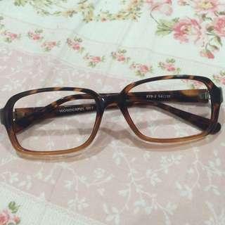 無鏡片眼鏡 豹紋
