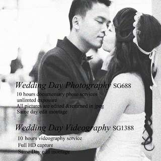 wedding day photography, videography at afforable price.  Medium format film photography.