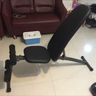 (Reserved) Reclinable Bench Press and Dumble Set