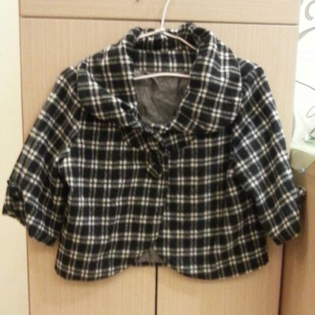 格紋格子外套(短版)
