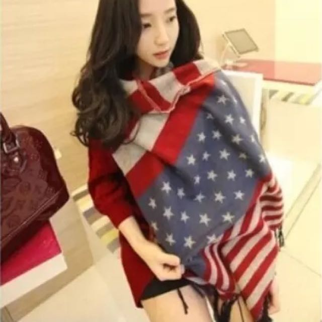 星星國旗圍巾