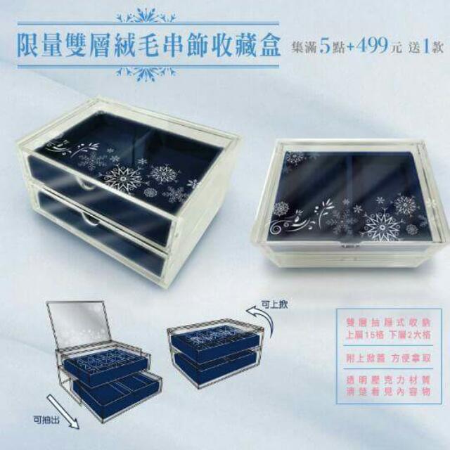 【保留】 7-11雙層絨毛串飾收藏盒